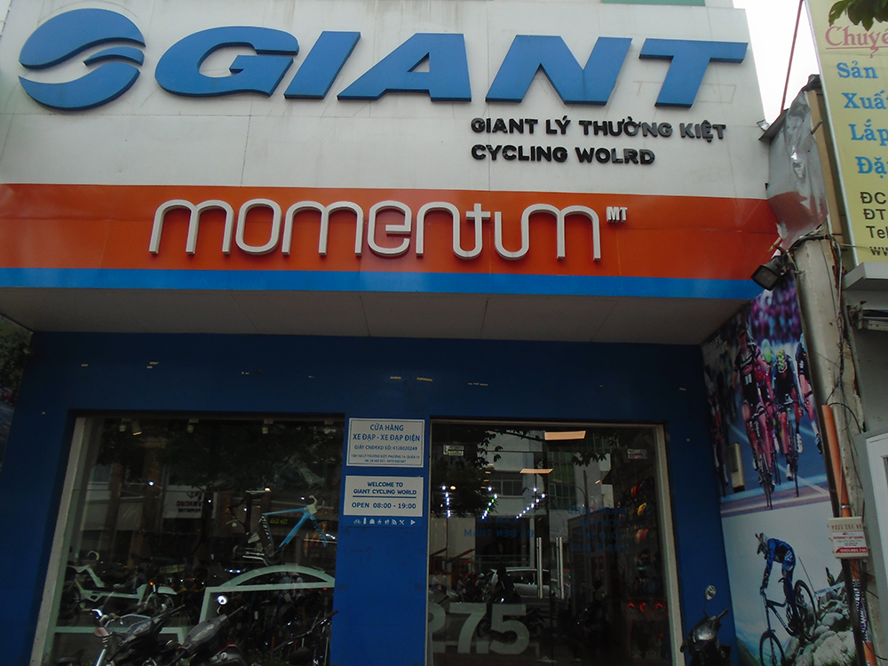 Chi nhánh Cửa Hàng Xe Đạp Thể Thao Giant trên đường Lý thường Kiệt